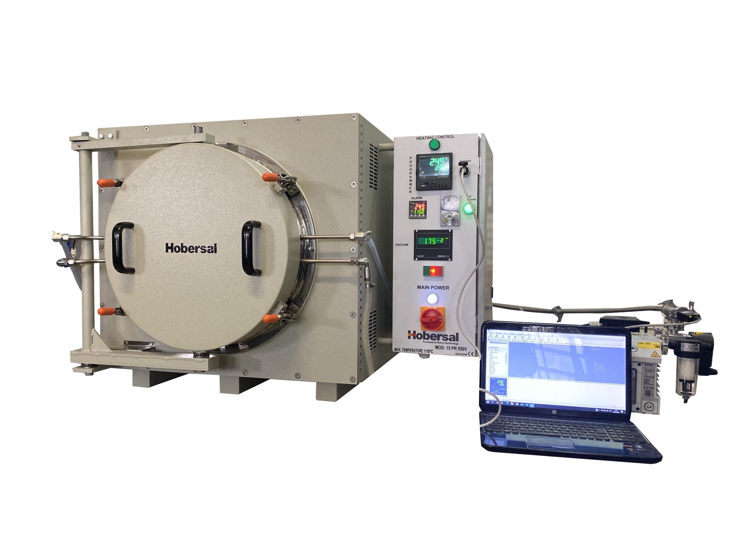 Hobersal Vacuum and ontrolled atmosphere furnace15PR550V