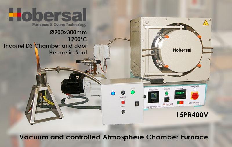 Horno Hobersal PR-V para vacío y atmósferas inertes